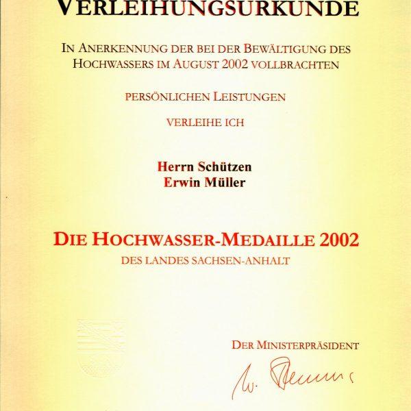 Hochwasser-Medaille 2002