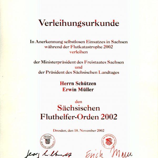 Sächsischen Fluthelfer-Orden 2002