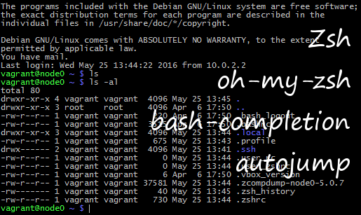Setup and Configure Zsh, Bash-Completion, Autojump - Erwin