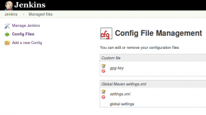 Jenkins, Config File Management