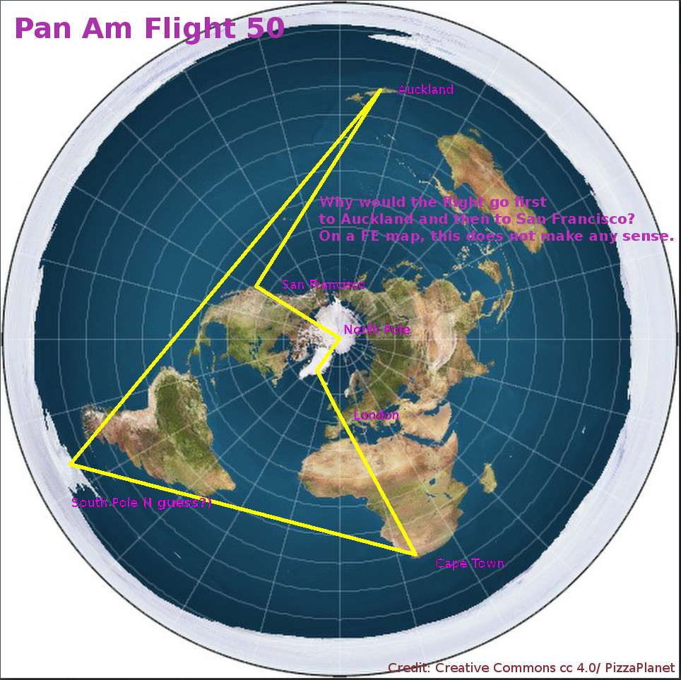 Pan Am Flight 50 on a FE map